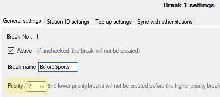 AdMaster Traffic Software - Screenshots - Advanced Break settings