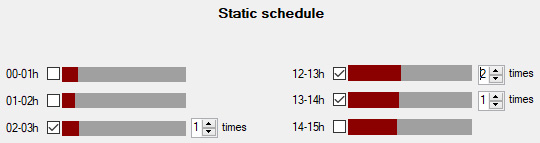 AdMaster Traffic Software - Screenshots - The Static Schedule